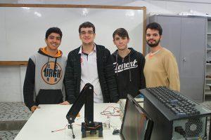 Competição de braços robóticos de Engenharia Unisanta