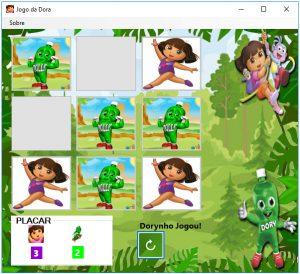 """""""Jogo da Dora"""", desenvolvido para a disciplina Técnicas de Programação II"""