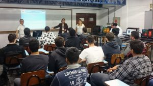Minicurso sobre desenvolvimento e gestão de carreiras, iniciativa do Núcleo de Desenvolvimento de Carreiras e da Faculdade de Engenharia de Computação da Unisanta