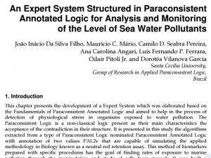"""O artigo """"An Expert System Structured in Paraconsistent Annotated Logic for Analysis and Monitoring of the Level of Sea Water Pollutants"""""""